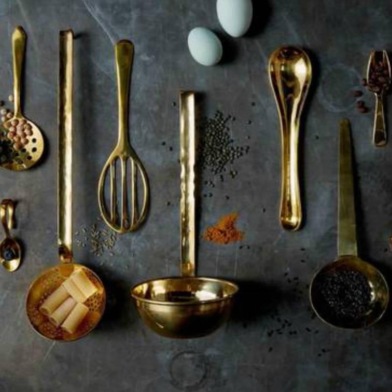 Sir Madam Brass Egg Spoon