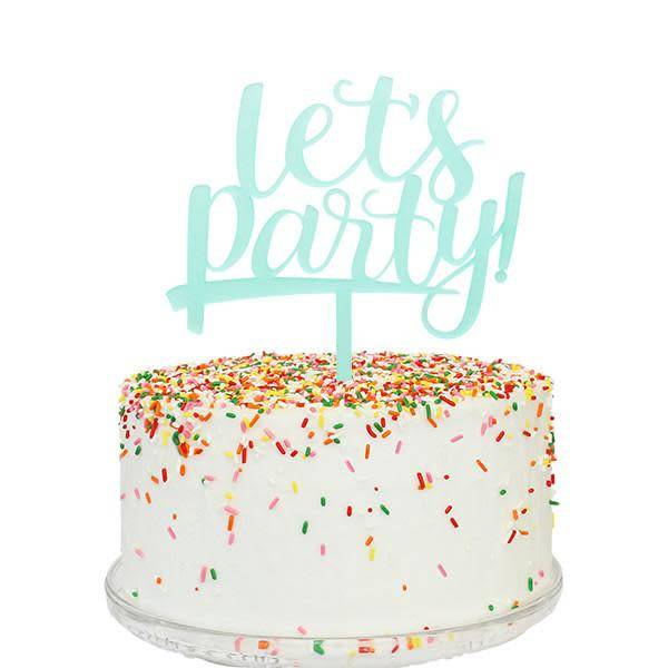 Lets Party Cake Topper