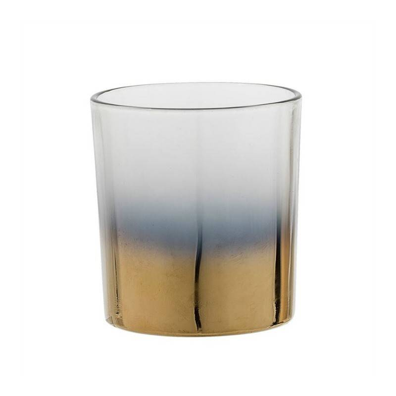 Glass Votive Gold/Grey 3""