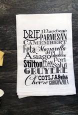 Cheese Typography Tea Towel