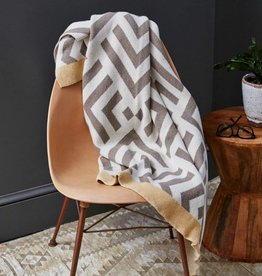 Savannah Hayes Zadar Throw Blanket Porcini