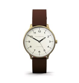 Newgate Watches Blip Cream Dial Brown Strap