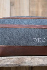 Lifetime Leather Co Felt & Leather Dopp Kit XL