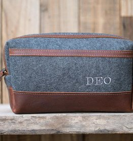 Lifetime Leather Co Felt & Leather Dopp Kit XL