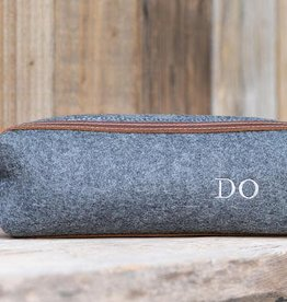 Lifetime Leather Co Felt & Leather Mini Dopp Kit