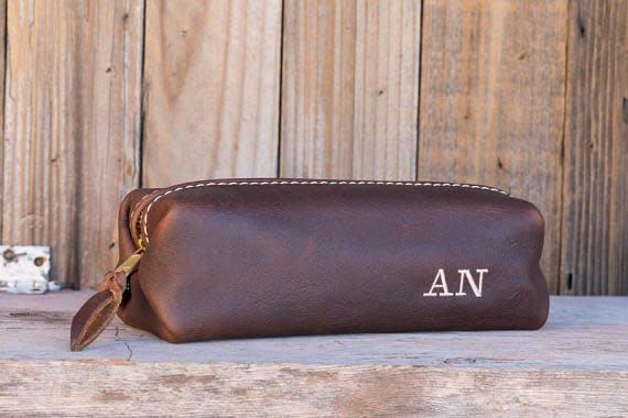 Lifetime Leather Co Shaving Bag Cognac