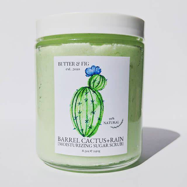 butter and fig Barrel Cactus + Rain Sugar Scrub