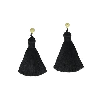 Black Classics Tassel Earrings