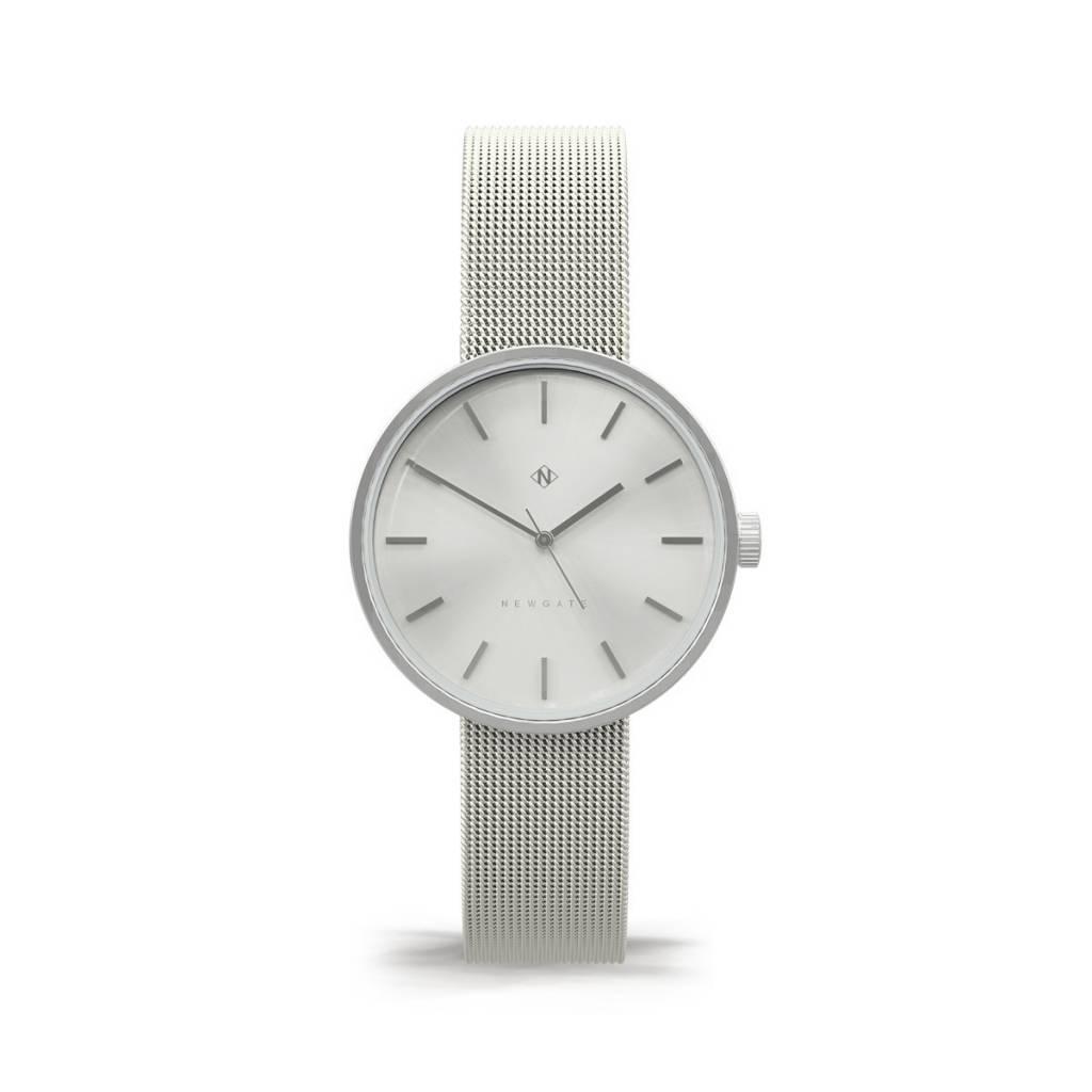 Newgate Watches Atom Silver Mesh Watch