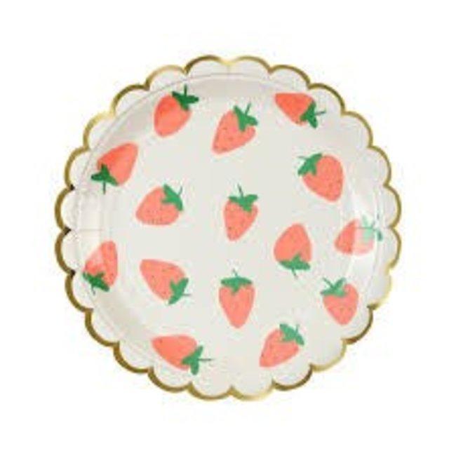 Meri Meri Strawberry Plate Small