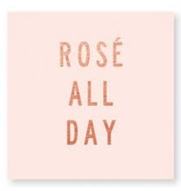 CR Gibson Rosè All Day Beverage Napkin