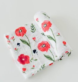 Little Unicorn Cotton Muslin Swaddle Single Summer Poppy
