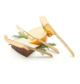 TRUE Belmont Gold Knife Cheese Set