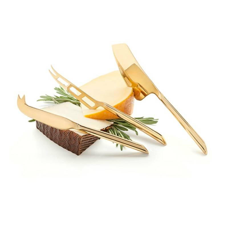 TRUE Belmont Gold Knife Cheese Set