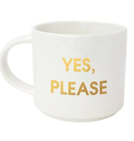 Chez Gagne Yes Please Metallic Mug