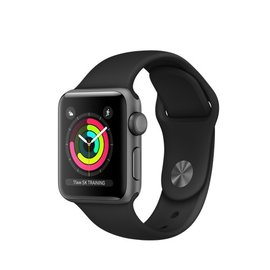 Apple Apple Watch Series 3 (GPS), 38mm Space Gray Aluminum Case with Black Sport Band 130-200mm