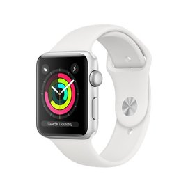 Apple Apple Watch Series 3 (GPS), 42mm Silver Aluminum Case with White Sport Band 140-210mm
