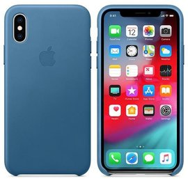 Apple Apple Leather Case for iPhone Xs - Cape Cod Blue (ATO)