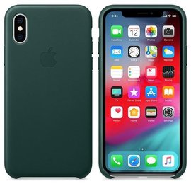 Apple Apple Leather Case for iPhone Xs - Forest Green (ATO)