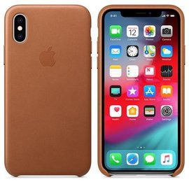Apple Apple Leather Case for iPhone Xs - Saddle Brown (ATO)