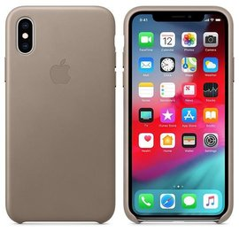 Apple Apple Leather Case for iPhone Xs - Taupe (WSL)