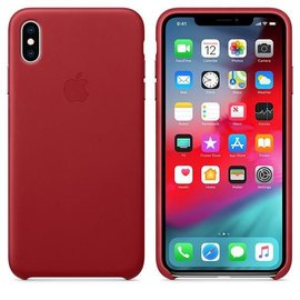 Apple Apple Leather Case for iPhone Xs Max - Product Red (ATO)