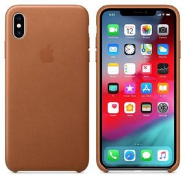 Apple Apple Leather Case for iPhone Xs Max - Saddle Brown (ATO)