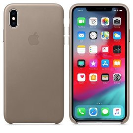 Apple Apple Leather Case for iPhone Xs Max - Taupe (WSL)