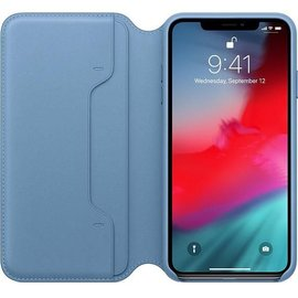 Apple Apple Leather Folio Case for iPhone Xs Max - Cape Cod Blue (ATO)