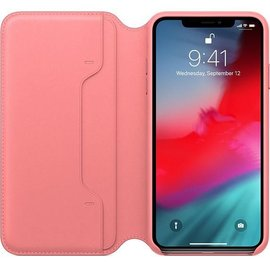 Apple Apple Leather Folio Case for iPhone Xs Max - Peony Pink (ATO)