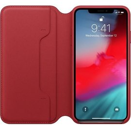 Apple Apple Leather Folio Case for iPhone Xs Max - Product Red (ATO)