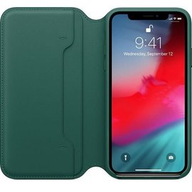 Apple Apple Leather Folio Case for iPhone Xs - Forest Green (ATO)