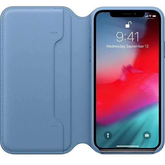 best website 68df7 4c507 Apple Apple Leather Folio Case for iPhone Xs - Cape Cod Blue (ATO)