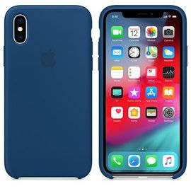 Apple Apple Silicone Case for iPhone Xs - Blue Horizon (ATO)