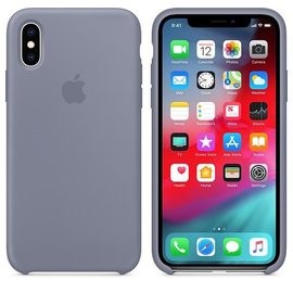 Apple Apple Silicone Case for iPhone Xs - Lavender Gray (ATO)