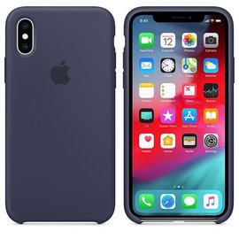 Apple Apple Silicone Case for iPhone Xs - Midnight Blue (ATO)