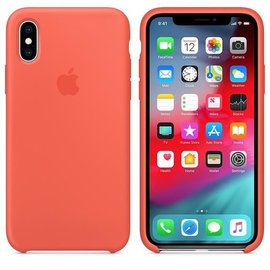 Apple Apple Silicone Case for iPhone Xs - Nectarine (ATO)