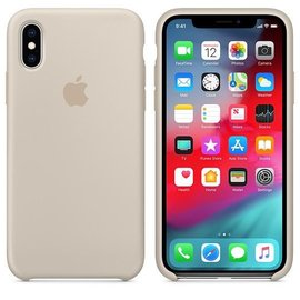 Apple Apple Silicone Case for iPhone Xs - Stone (ATO)