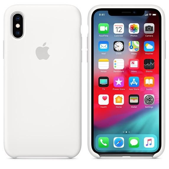 detailed look 379f3 8b673 Apple Apple Silicone Case for iPhone Xs - White (ATO)