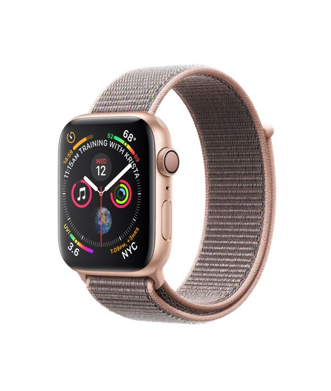 reputable site e7d75 ece62 Apple Apple Watch Series 4 (GPS), 44mm Gold Aluminum Case with Pink Sand  Sport Loop