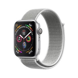 Apple Apple Watch Series 4 (GPS), 44mm Silver Aluminum Case with Seashell Sport Loop