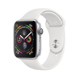 Apple Apple Watch Series 4 (GPS), 44mm Silver Aluminum Case with White Sport Band