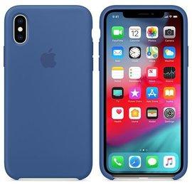 Apple Apple Silicone Case for iPhone Xs - Delft Blue (ATO)