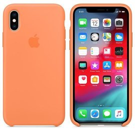Apple Apple Silicone Case for iPhone Xs - Papaya (ATO)