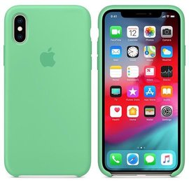 Apple Apple Silicone Case for iPhone Xs - Spearmint (ATO)