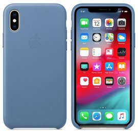 Apple Apple Leather Case for iPhone Xs - Cornflower (ATO)