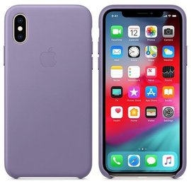 Apple Apple Leather Case for iPhone Xs - Lilac (ATO)
