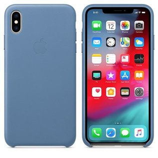 Apple Apple Leather Case for iPhone Xs Max - Cornflower (ATO)