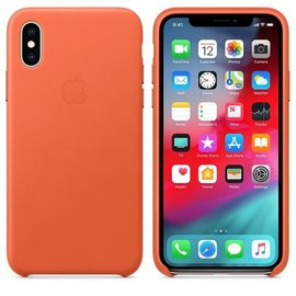 Apple Apple Leather Case for iPhone Xs - Sunset (WSL)