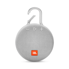 JBL JBL Clip 3 Waterproof Bluetooth Speaker Steel White